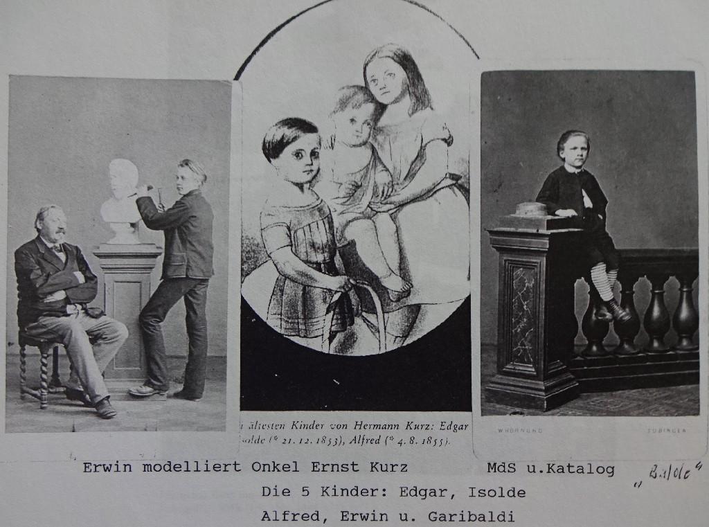 Ernst Kurz, modelliert von Erwin, Kinder