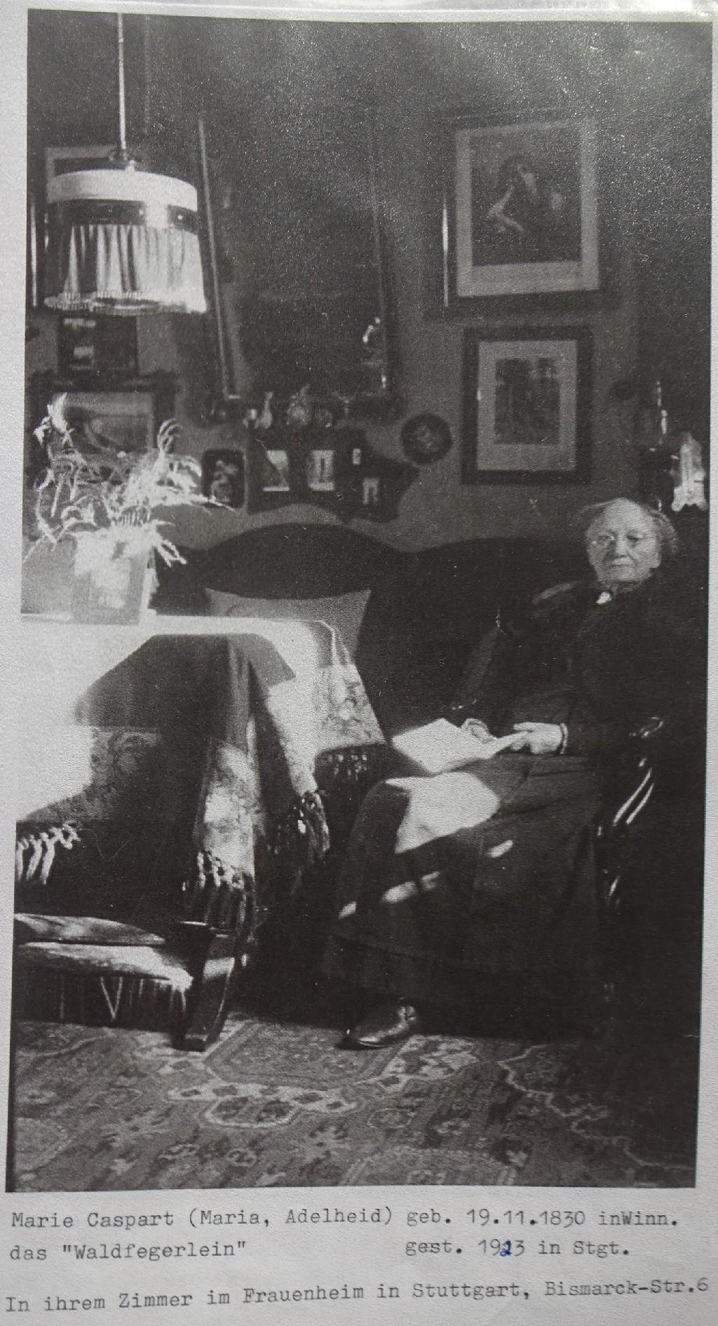 Marie Caspart im Frauenstift